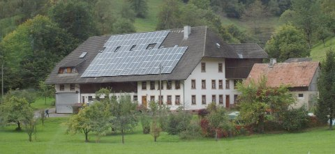 Alternative fuels solar panels on a building in Germany