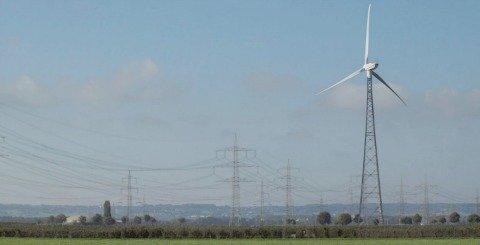 Alternative fuels wind turbine in German countryside